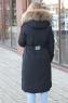 Мятный зимний пуховик с мехом фирмы Miss Fofo