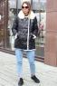 Пуховик одеяло женский зимний с капюшоном