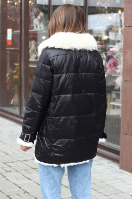 Молодежный пуховик женский большого размера