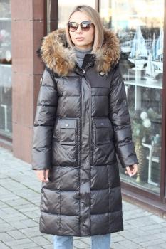 Канада гус пуховик с мехом енота модный приталенный