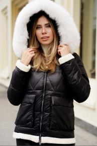 Женская зимняя куртка пуховик Burberry 2017-2018