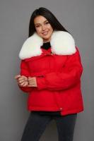 Зимняя женская куртка Vo-tarun красивого цвета с мехом