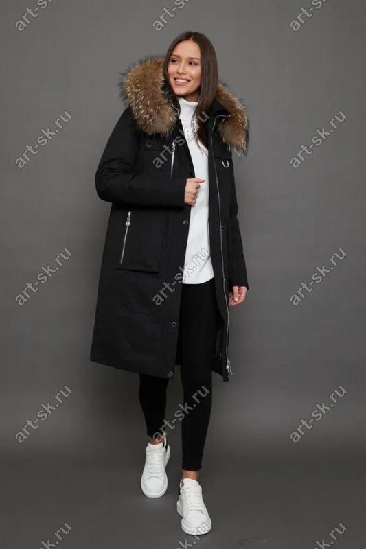 Женская куртка парка canada goose цвета хаки