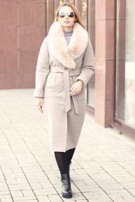 Длинное пальто шерстяное женское 2018-2019