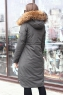 Молодежный пуховик женский с мехом коллекция 2018-2019