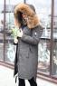 Модный женский пуховик свободного кроя черный