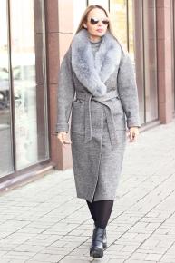 Пальто длинное шерстяное женское в Москве