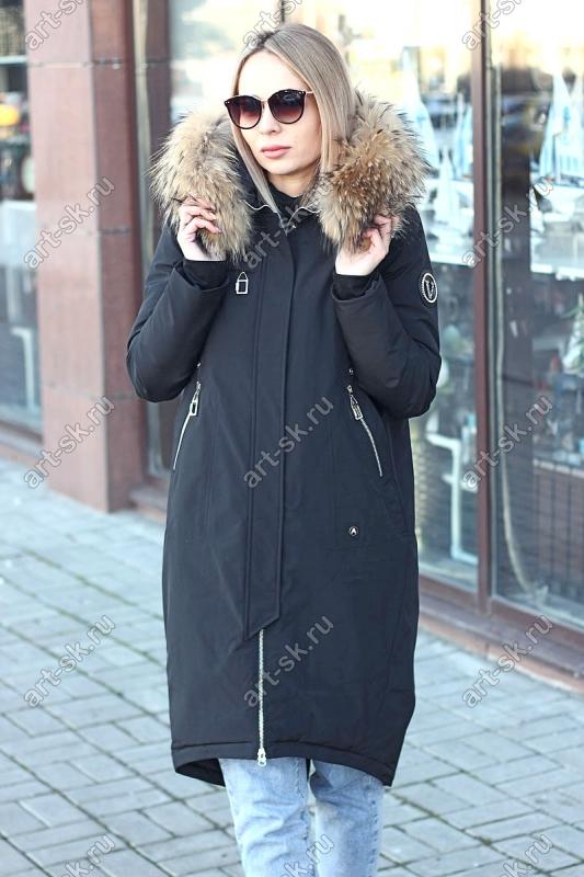Купить пуховик женский с натуральным мехом