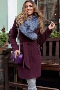 Красивое классическое пальто с чернобуркой
