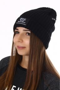 Женская молодежная шапка с надписью