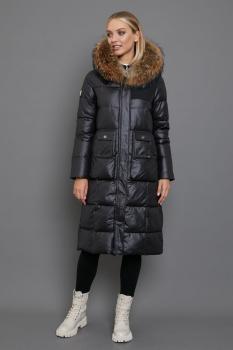 Серый женский пуховик зимы 2018-2019