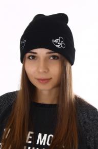 Зимняя шапка с вышивкой микки маус