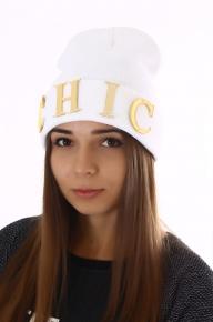 Женская белая шапка CHIC
