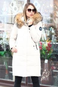 Коричневый женский пуховик Аляска canada goose в интернет магазине