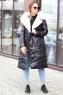 Теплый женский пуховик mork anhanma фасона одеяло серый