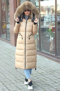 Теплый пуховик Burberry на зиму зеленый