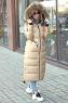 Стильный зимний пуховик burberry длинной в пол