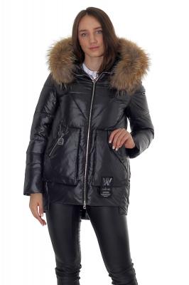 Женская куртка с капюшоном и мехом