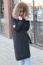 Теплый женский пуховик черный