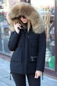 Куртка парка женская с мехом