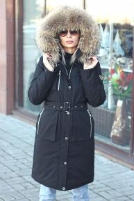 Теплый пуховик на зиму черный