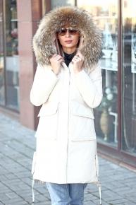 Теплая куртка парка с капюшоном